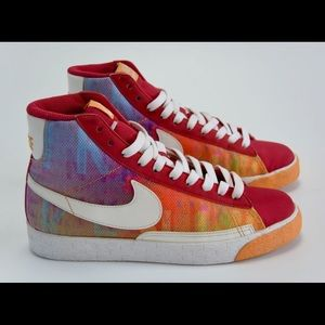 Nike blazed high top multicolor lace up sneaker